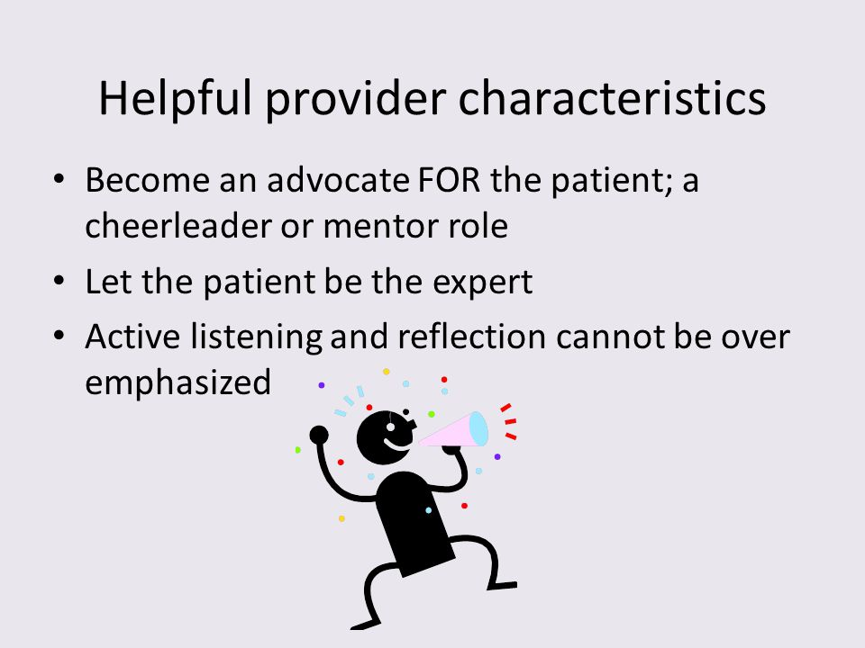 Helpful provider characteristics