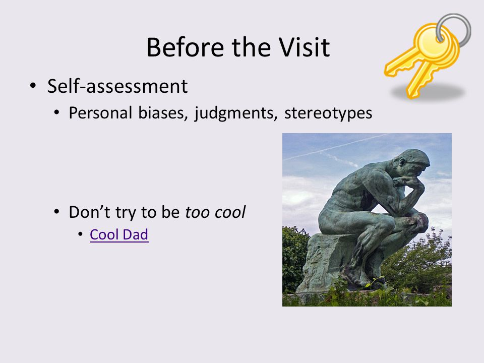 Before the Visit Self-assessment