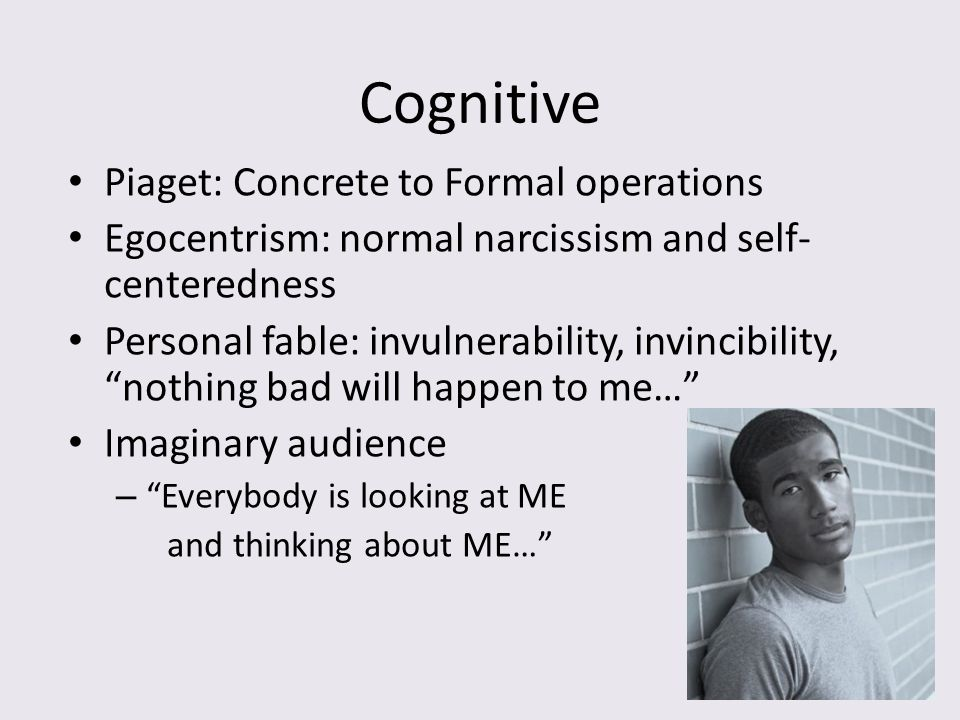 Cognitive Piaget: Concrete to Formal operations