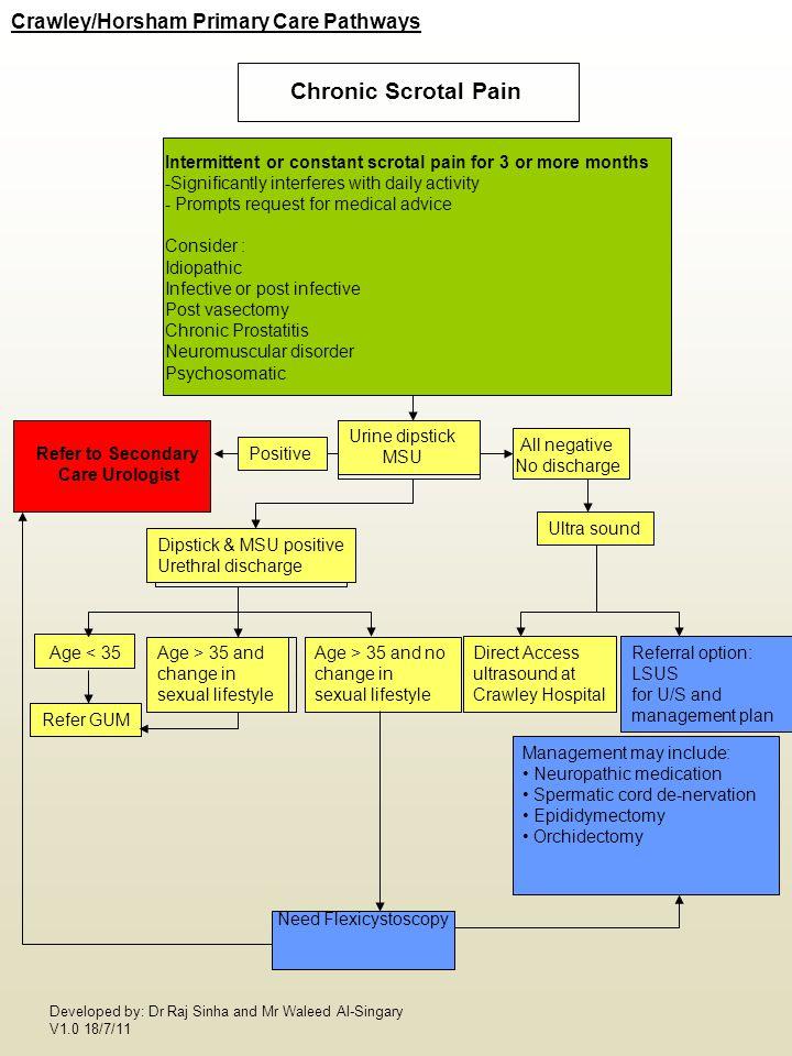 Chronic Scrotal Pain Crawley/Horsham Primary Care Pathways