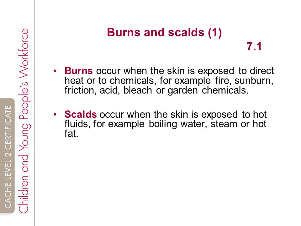 Burns and scalds (1) 7.1