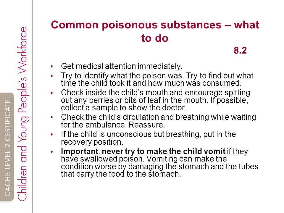 Common poisonous substances – what to do 8.2