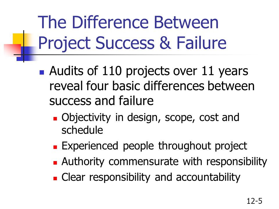 The Difference Between Project Success & Failure