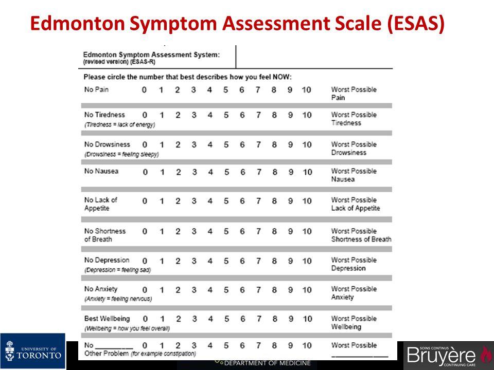 Edmonton Symptom Assessment Scale (ESAS)