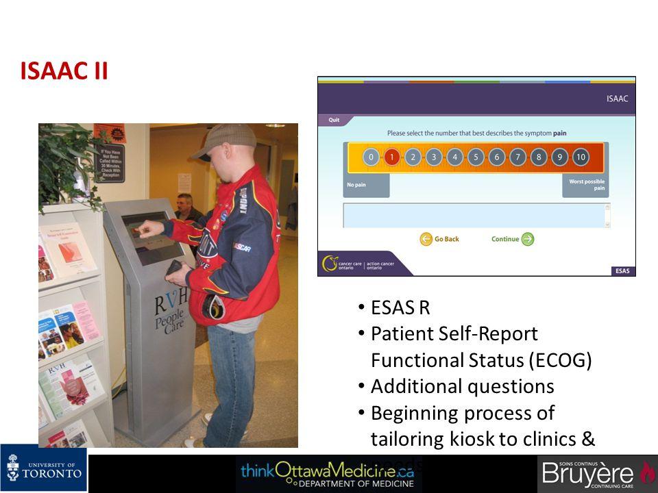 ISAAC II ESAS R Patient Self-Report Functional Status (ECOG)