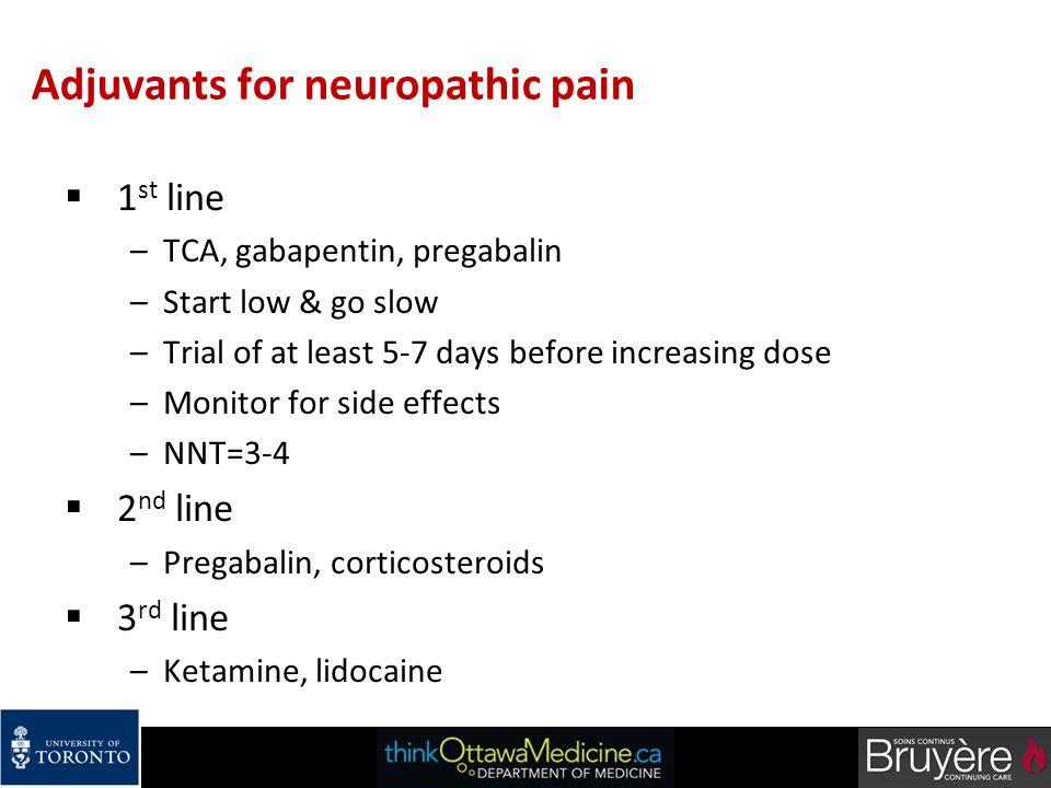 Adjuvants for neuropathic pain