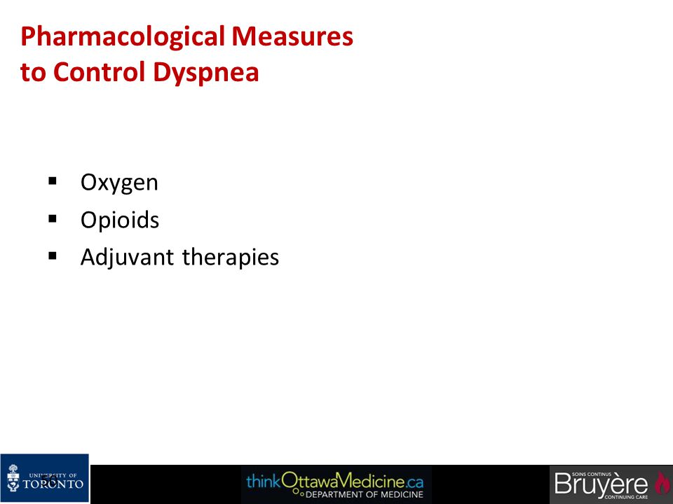Pharmacological Measures to Control Dyspnea