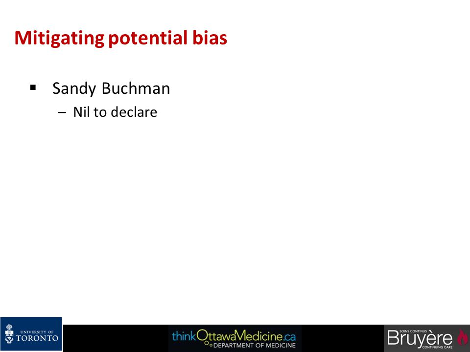 Mitigating potential bias