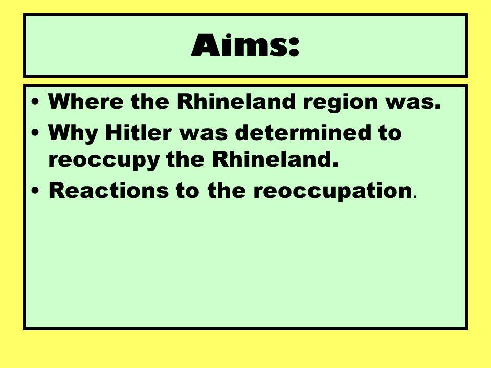 Aims: Where the Rhineland region was.