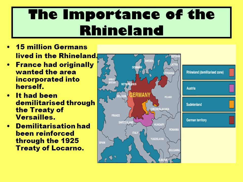 The Importance of the Rhineland