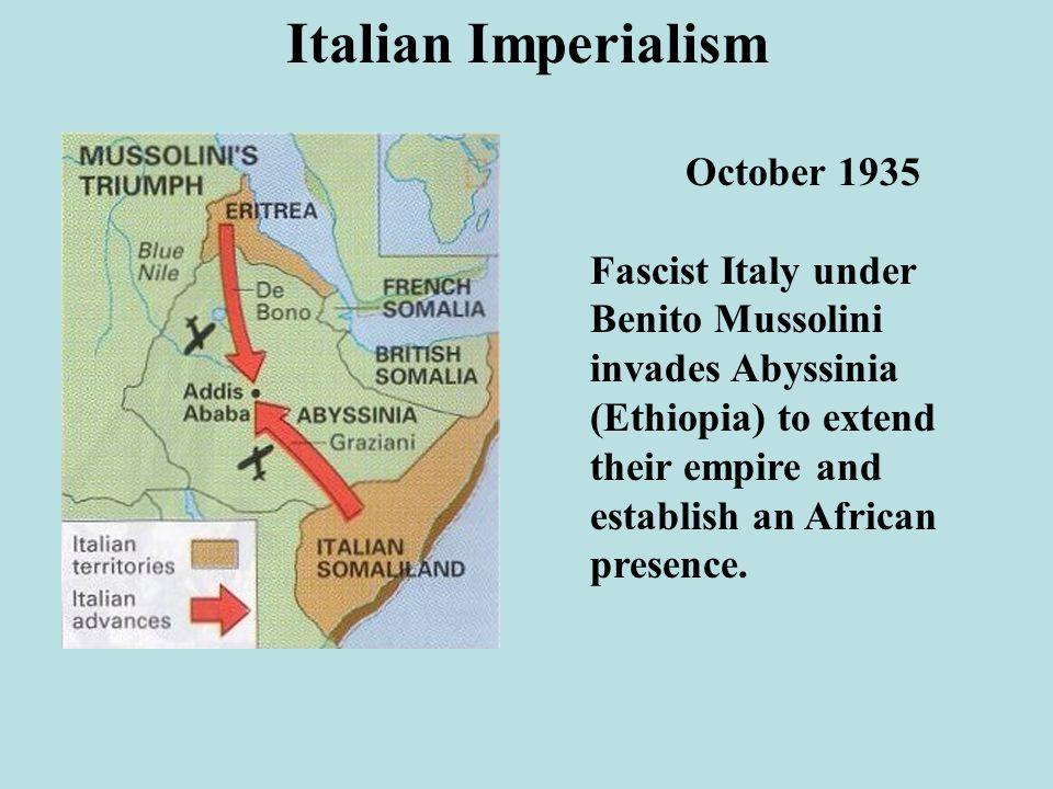 Italian Imperialism October 1935