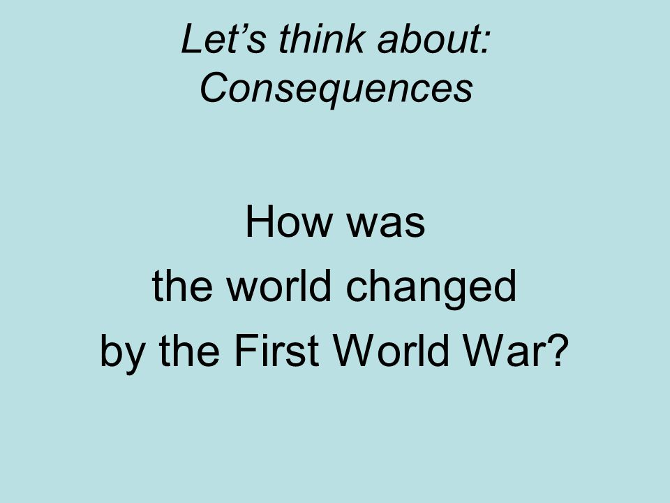consequences of world war 2 pdf