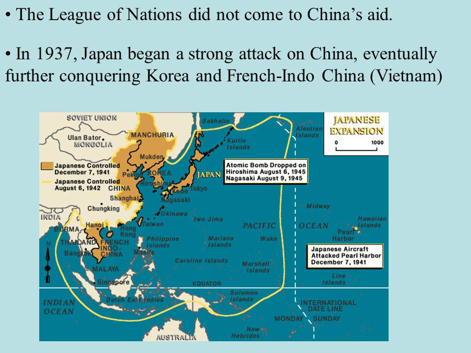 The League of Nations did not come to China's aid.