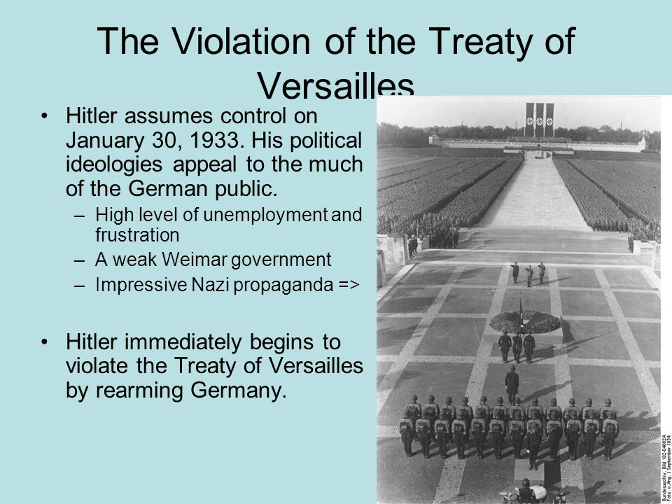 The Violation of the Treaty of Versailles