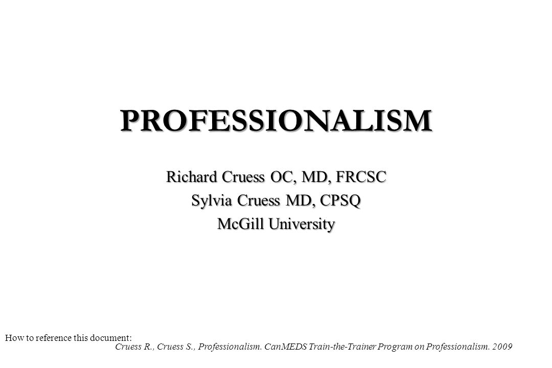 Richard Cruess OC, MD, FRCSC