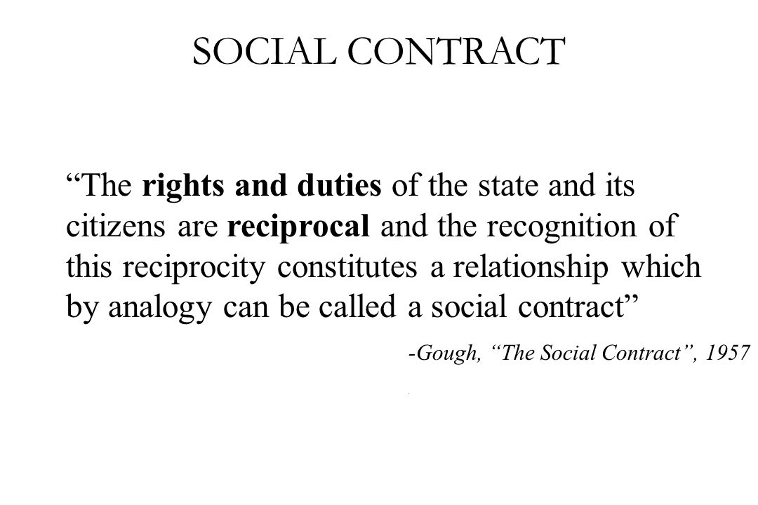 -Gough, The Social Contract , 1957