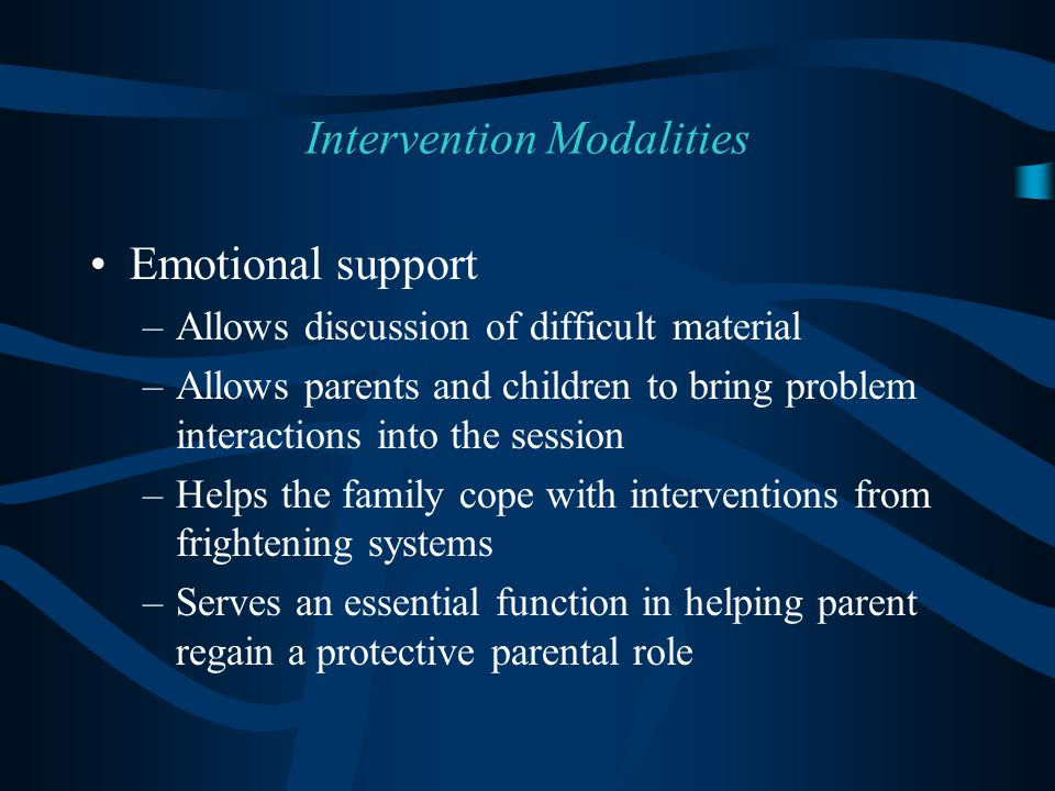 Intervention Modalities