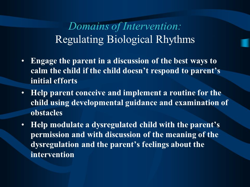 Domains of Intervention: Regulating Biological Rhythms