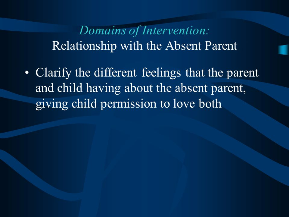Domains of Intervention: Relationship with the Absent Parent