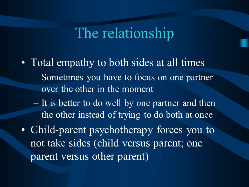 The relationship Total empathy to both sides at all times