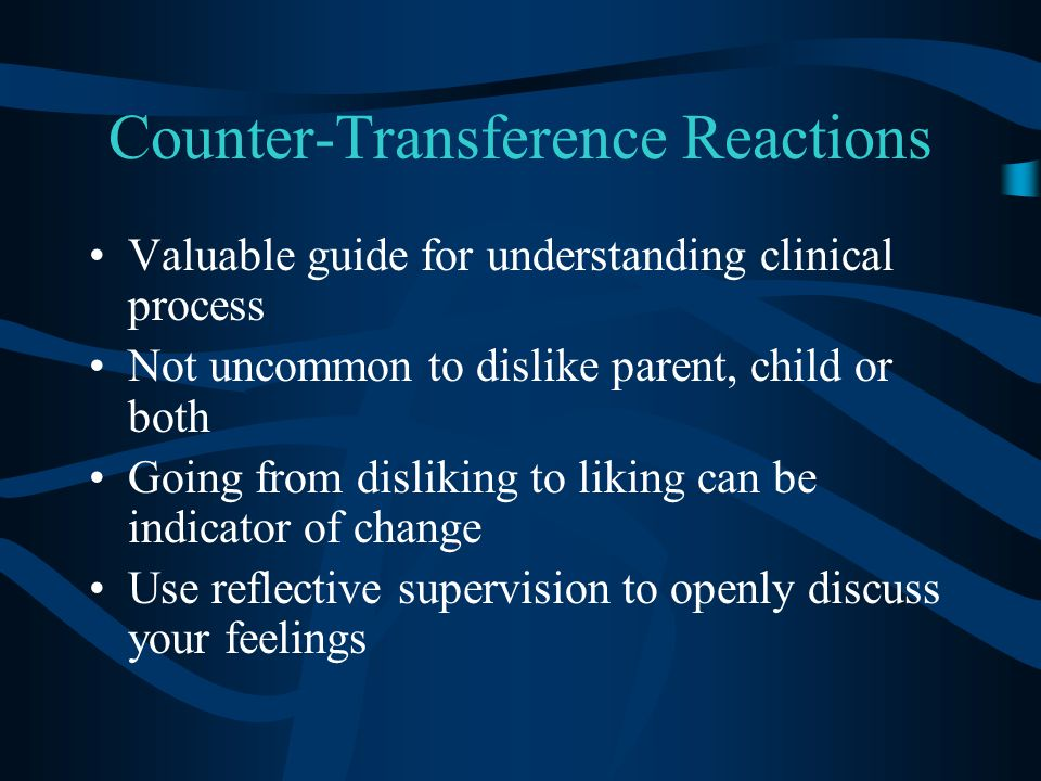 Counter-Transference Reactions