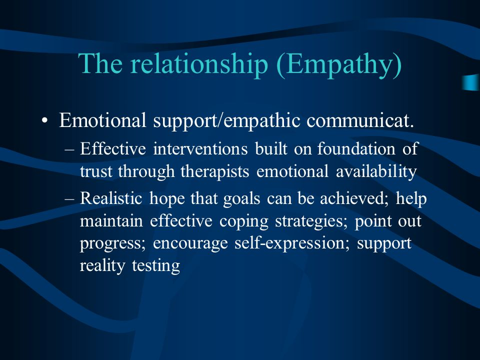 The relationship (Empathy)