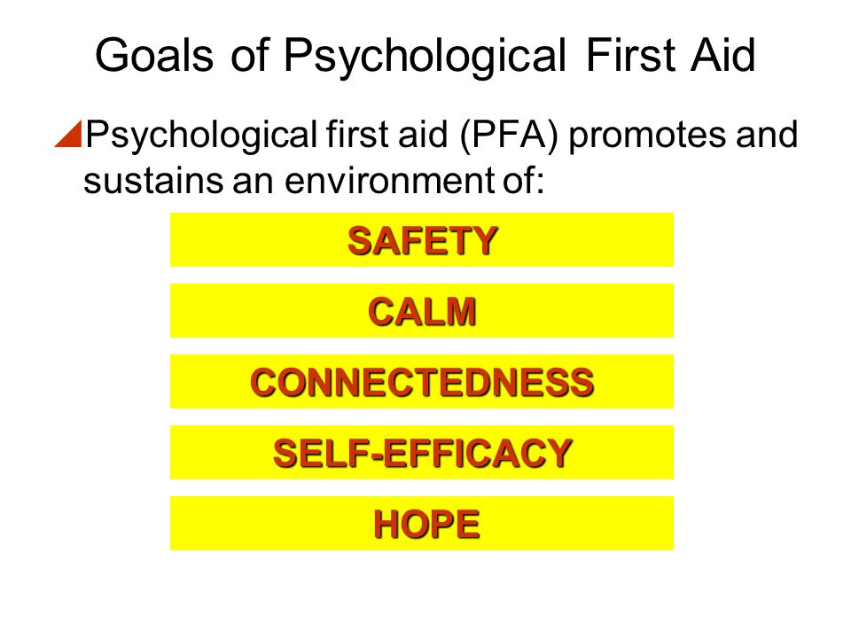 Goals of Psychological First Aid