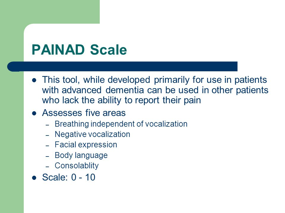 PAINAD Scale