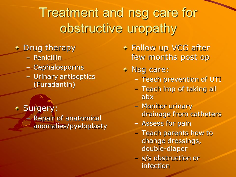 Treatment and nsg care for obstructive uropathy