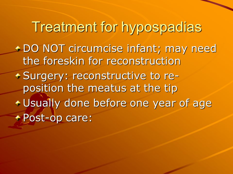 Treatment for hypospadias
