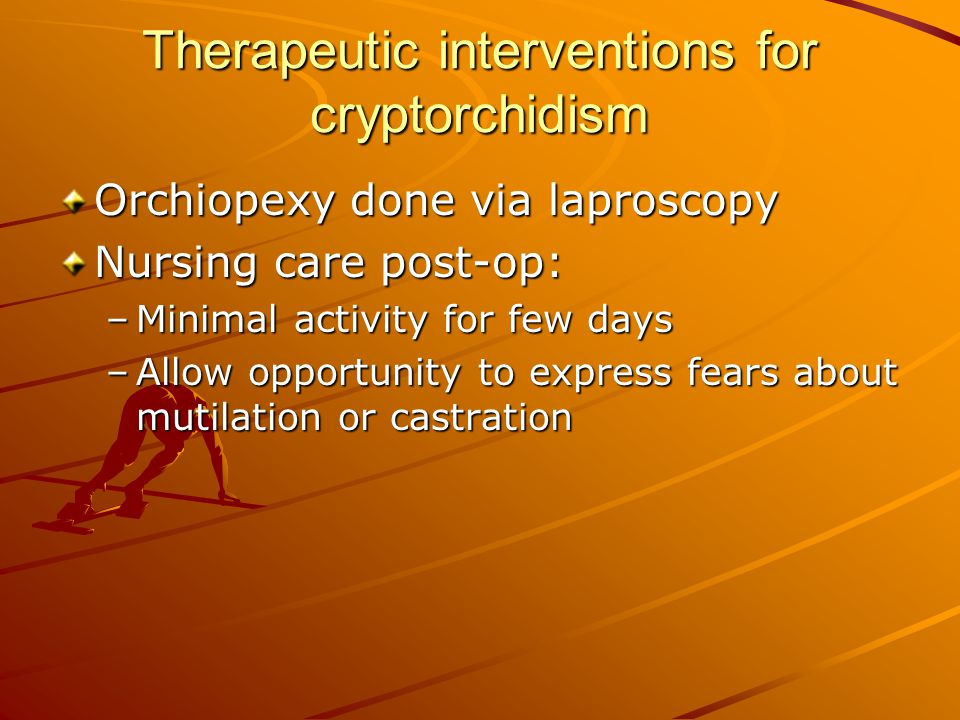 Therapeutic interventions for cryptorchidism