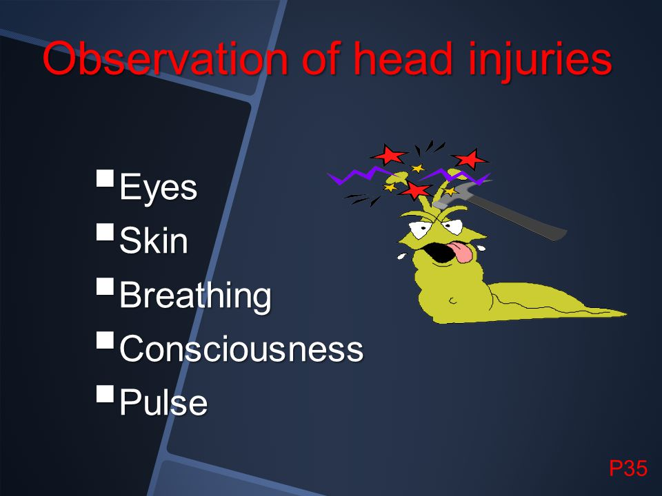 Observation of head injuries