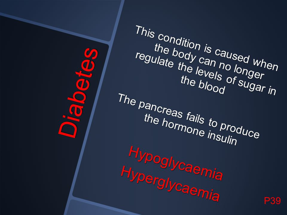 The pancreas fails to produce the hormone insulin