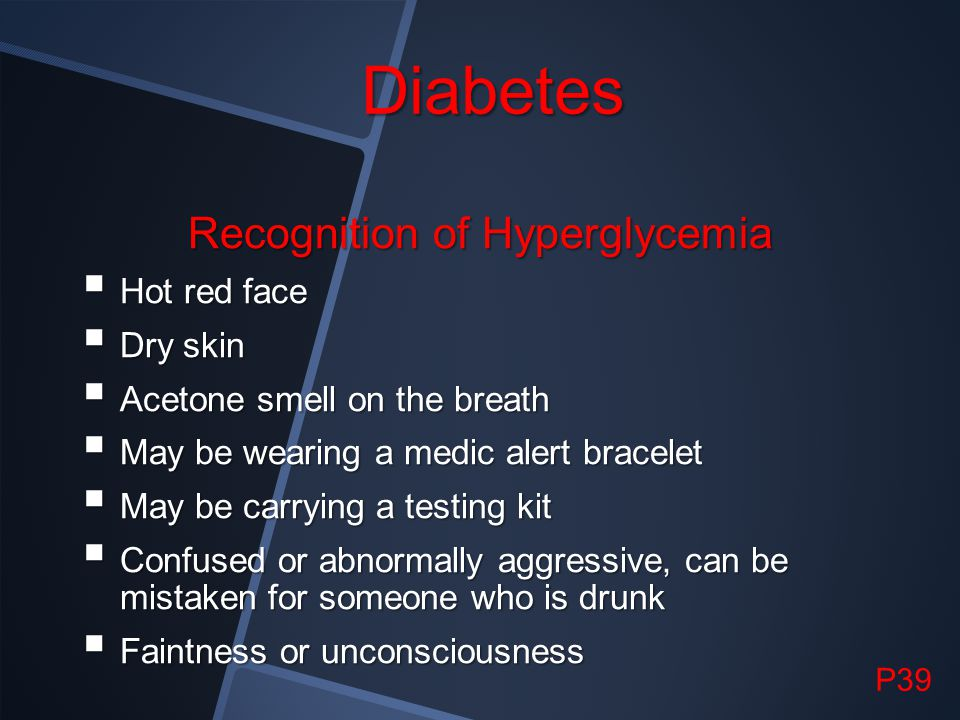 Recognition of Hyperglycemia
