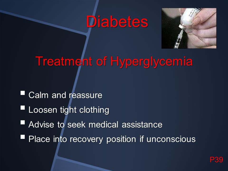 Treatment of Hyperglycemia