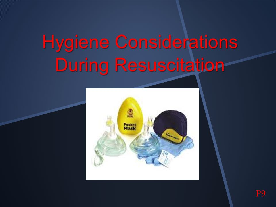 Hygiene Considerations During Resuscitation
