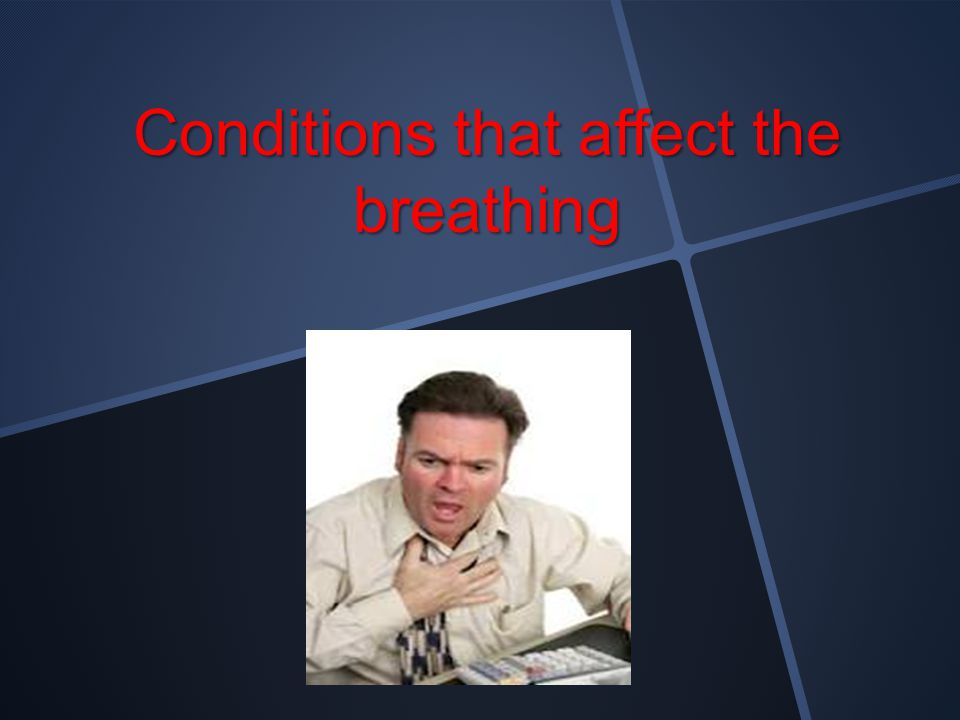 Conditions that affect the breathing