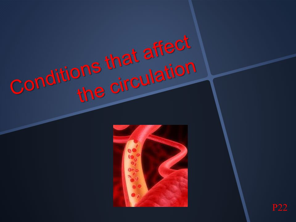 Conditions that affect the circulation
