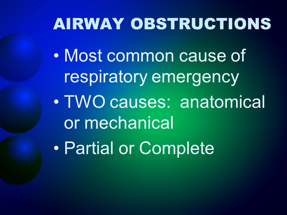 Most common cause of respiratory emergency