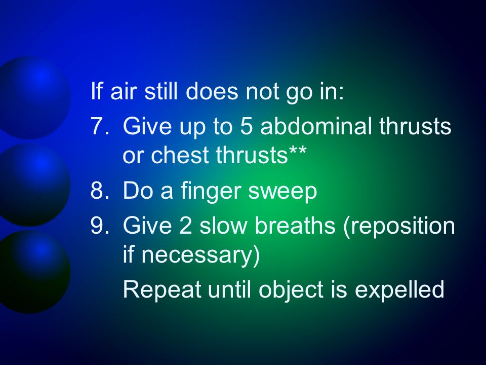 If air still does not go in: