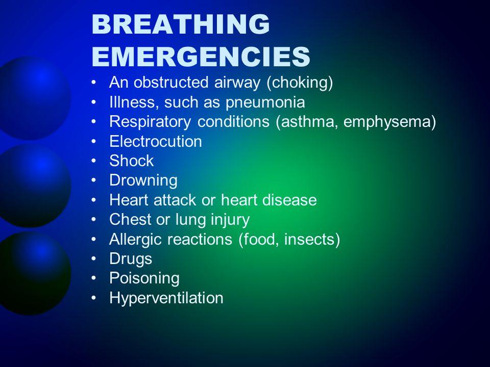 BREATHING EMERGENCIES