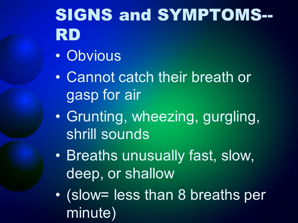 SIGNS and SYMPTOMS--RD