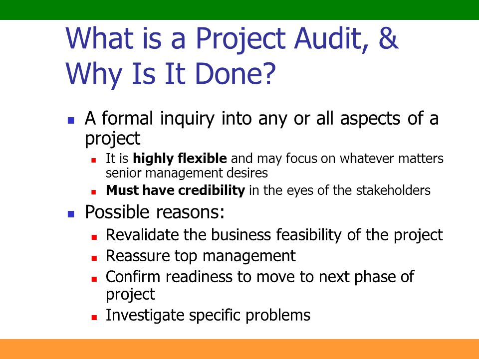 What is a Project Audit, & Why Is It Done