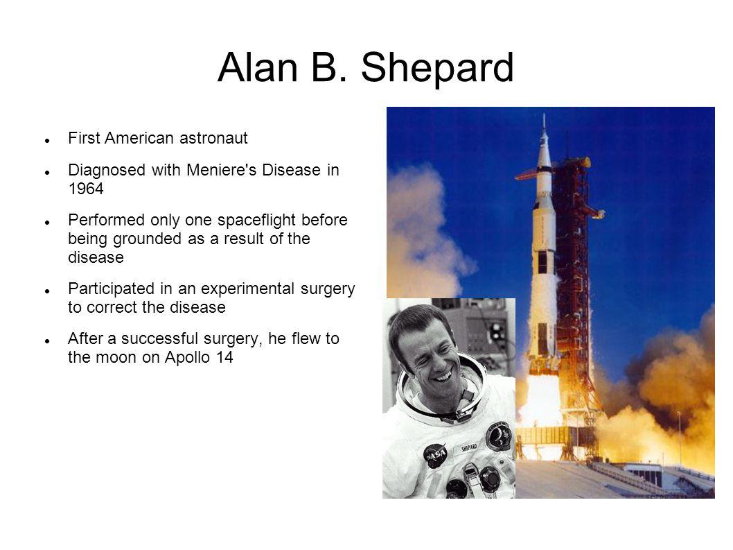 Alan B. Shepard First American astronaut