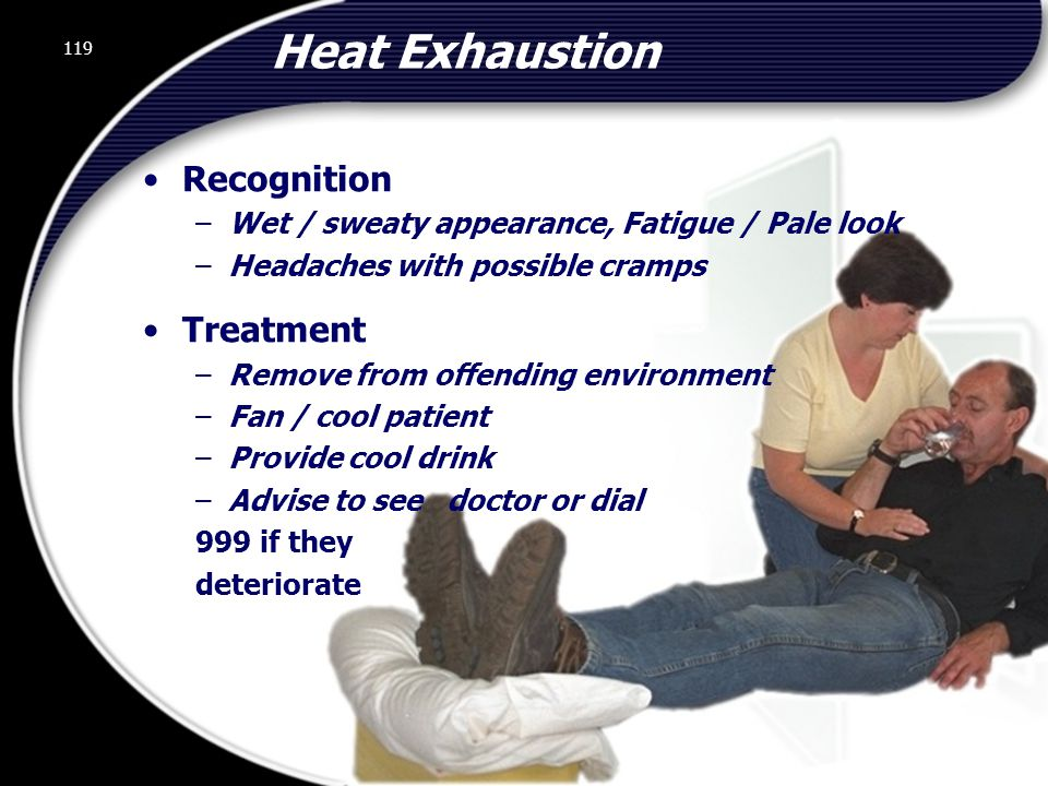 Heat Exhaustion Recognition Treatment
