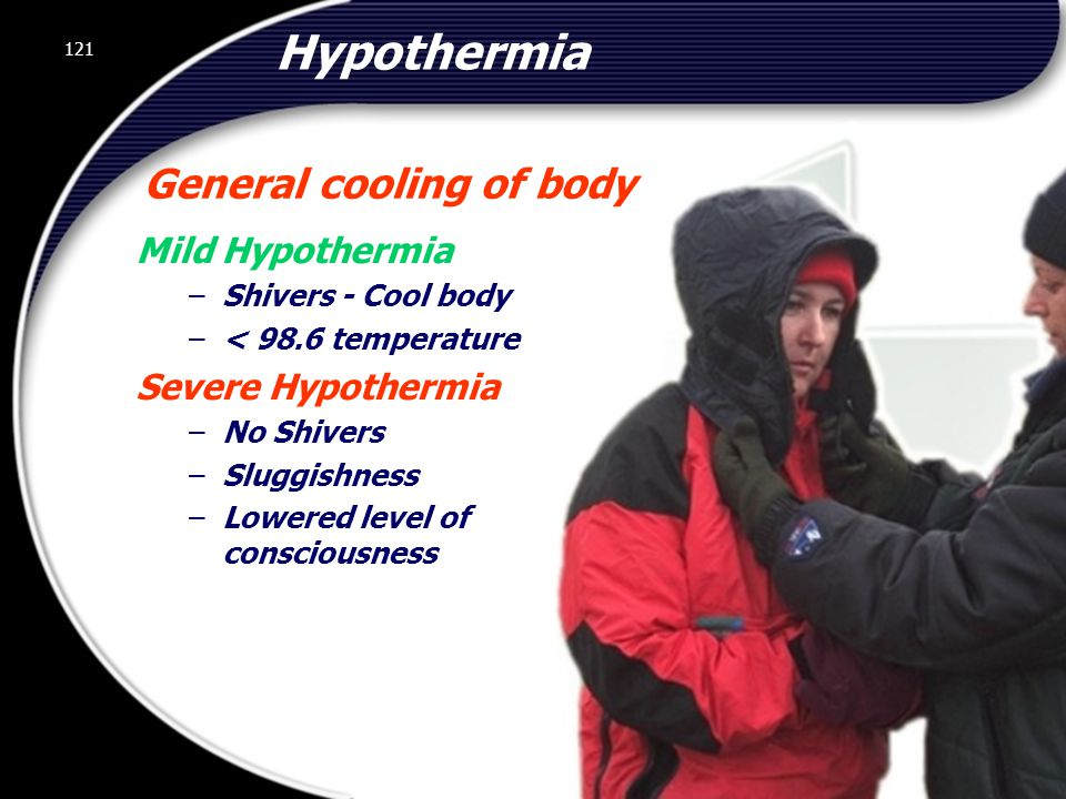 General cooling of body