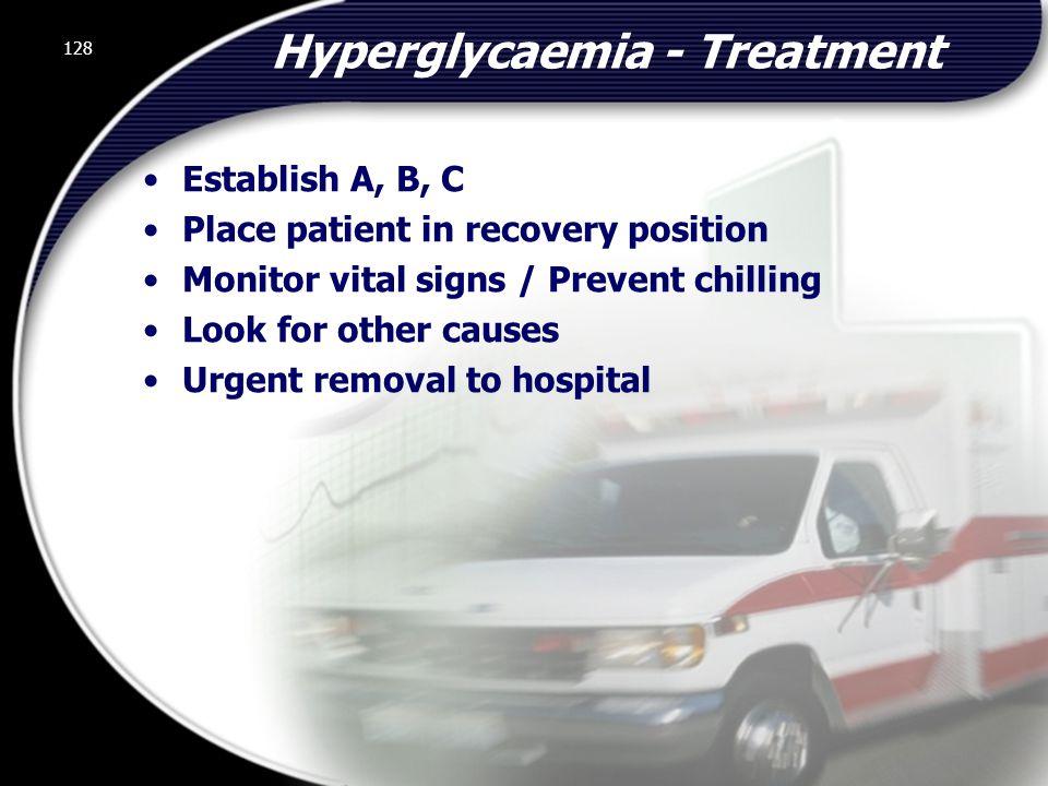 Hyperglycaemia - Treatment