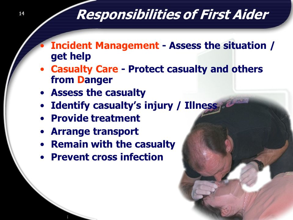 Responsibilities of First Aider