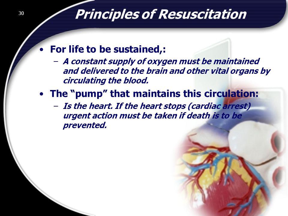 Principles of Resuscitation