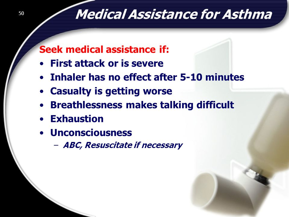 Medical Assistance for Asthma